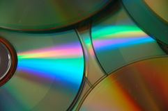 CDs. Close-up of CDs and DVDs Stock Photo