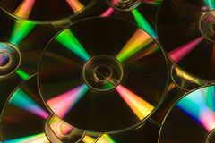 CDs. Macro stock image