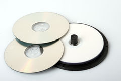CDs. Some CD of disks on a white background Royalty Free Stock Photos