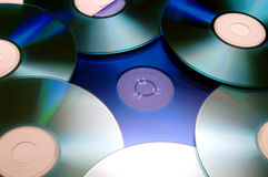CDs. Compact Discs royalty free stock photos