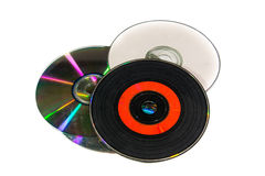 老cds 免版税库存图片