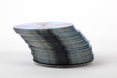 CDs arranged in a stack Stock Photography