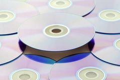 CDs Background Royalty Free Stock Photography