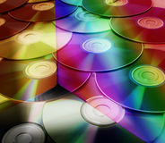 CDs background Stock Photography