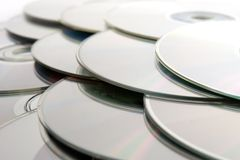 CDs background Royalty Free Stock Photo