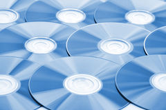 CDs background Stock Photo