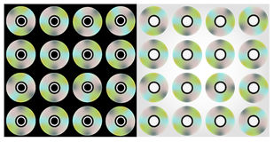 CDs_background Royalty-vrije Stock Foto's