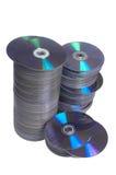 CDs. CD on white backboard Stock Images