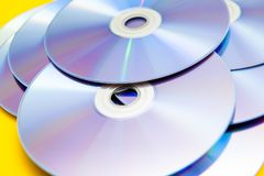 CDs, DVDs, stock afbeelding