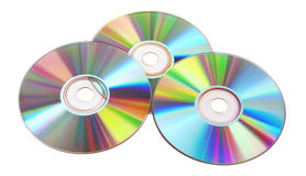CDs DVDs Blu-ray Stack Of Discs On White Stock Images ...
