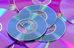 CDs and DVDs Stock Photo
