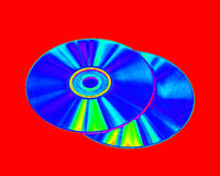 Cds and dvds Royalty Free Stock Photos