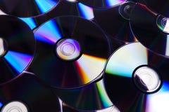 CDs en DVDs Stock Afbeelding