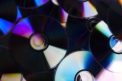 CDs en DVDs Stock Foto