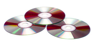 CDs isolated Royalty Free Stock Photography