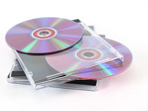 CDs with Jewel Cases Stock Images