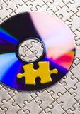 Cds on jigsaws Stock Photo