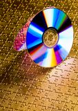 Cds on jigsaws Royalty Free Stock Photography