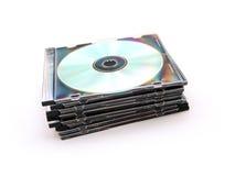 CDs in juweelgevallen Stock Afbeelding