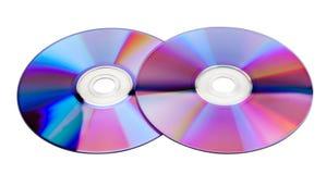 cds kolorowi dwa Obrazy Royalty Free
