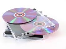 CDs met de Gevallen van het Juweel Stock Afbeeldingen