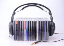 cds hełmofonów sterta Obraz Stock