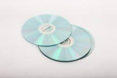 CDs op een witte achtergrond Stock Foto