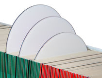 CDs Or DVDs In Paper Sleeves Royalty Free Stock Images