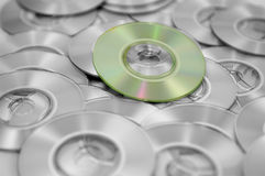 CDs scattered. A handfull of CDs scattered Royalty Free Stock Images
