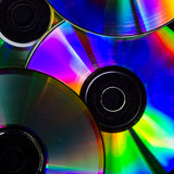 CDs. Several colorful CDs as background royalty free stock image