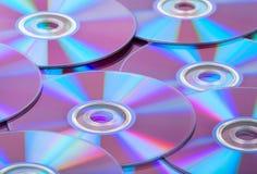 CDs van compact-discs achtergrond Royalty-vrije Stock Foto's