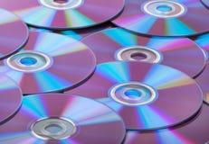 CDs van compact-discs achtergrond Stock Afbeelding