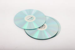 CDs on a white background. Stock Photo