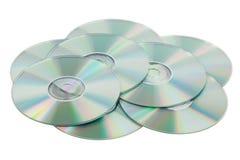 cds wypiętrzają rozrzuconego Obrazy Stock