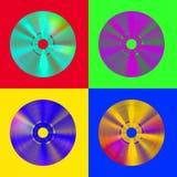 CDschijven van de pop-kunst Royalty-vrije Stock Afbeeldingen