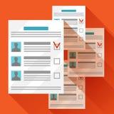 Cédulas de votação com candidato selecionado Ilustração política das eleições para bandeiras, sites, bandeiras e flayers Imagens de Stock Royalty Free