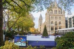 Ce łyżwowy festiwal przy Krajowym historii muzeum w Londyn obraz royalty free