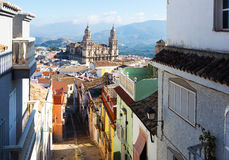 $ce-andalusisch stad met Renaissancekathedraal Jaen Stock Afbeelding