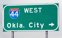 Ce chemin vers Ville d'Oklahoma Photos libres de droits