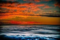 Coucher du soleil de Haleakela Images stock