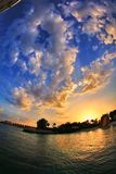 Ce coucher du soleil de fisheye Photos stock
