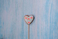Ce de douceur d'amour de symbole de lustre de pain d'épice de coeur de biscuits de vacances Image stock