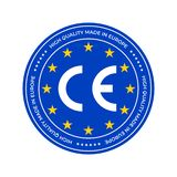 CE marking label or European Conformity certification mark. Vector EU high quality certificate seal stars. CE marking label or European Conformity certification royalty free illustration