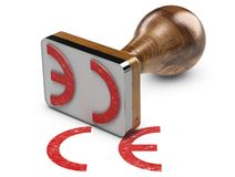 CE Marking Over White Background royalty free stock photos