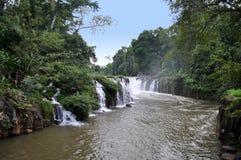 Ce Phasuam, Phasuam waterfal dans Pakse, Laos Image stock