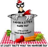 Ce potage de poulet goûte drôle? Photographie stock