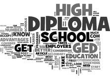 Ce qui est meilleur Ged Or Diploma Word Cloud illustration de vecteur