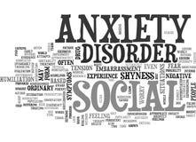 Ce qui est nuage social de Word de trouble d'anxiété illustration stock