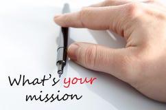 Ce qui est votre concept de mission Photo libre de droits