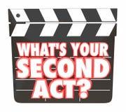 Ce qui est votre deuxième carrière 3d Illustra de panneau de clapet de film d'acte 2ème illustration libre de droits